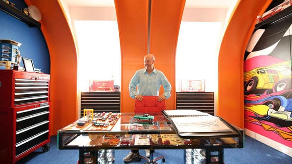 Hot Wheels Super-Collector in his mini-museum