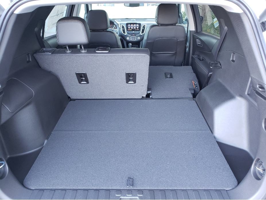 2021 Chevy Equinox cargo area w. backseat partial down