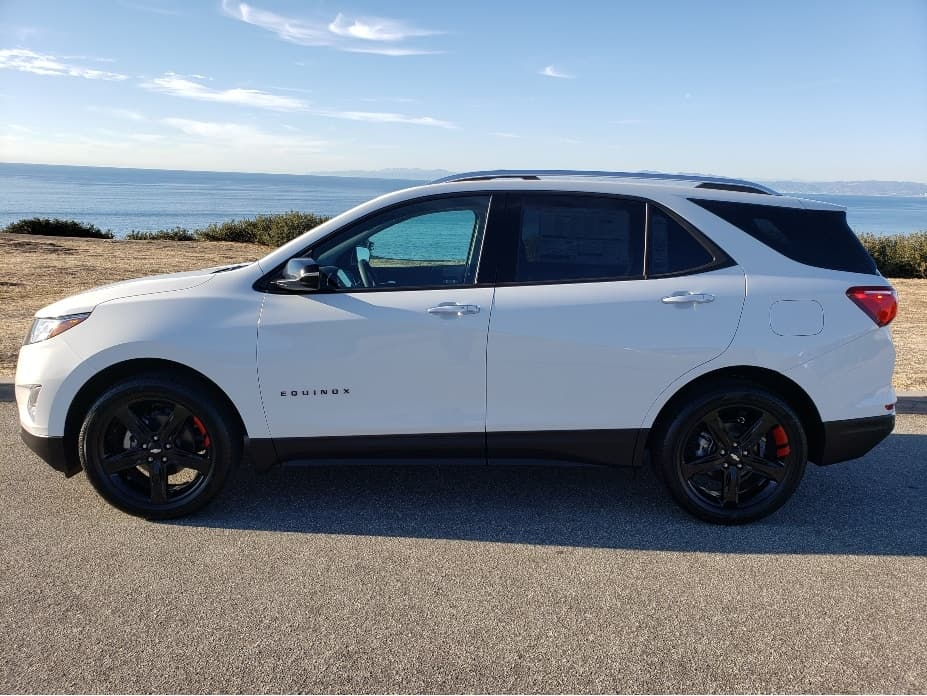 2021 Chevy Equinox Premier trim with Redline Edition Package, white, driver profile