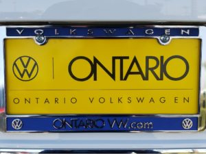 Ontario Volkswagen plate