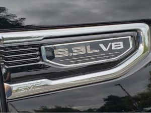 2021 GMC Sierra driver 5.3L V8 badge