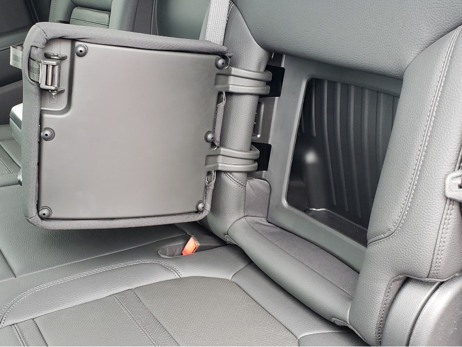 2021 GMC Sierra hidden compartment in backseat