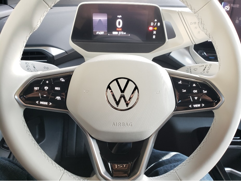 2021 VW ID.4 steering wheel and dash