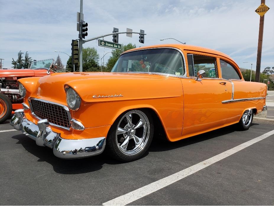 Classic Car Meet Diamond Bar orange custom coupe
