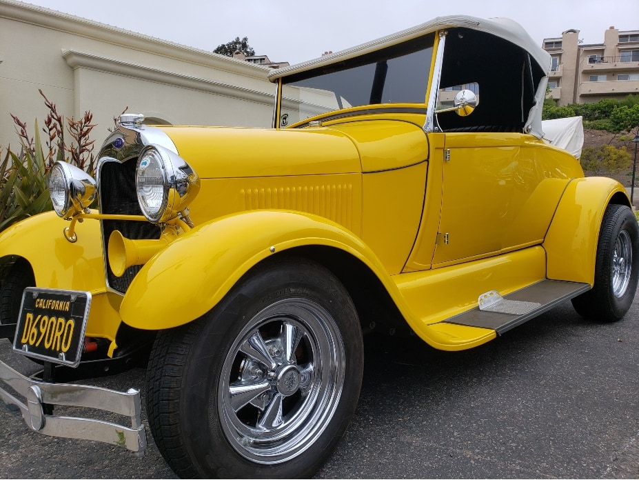 Monarch Bay Cars And Coffee yellow antique