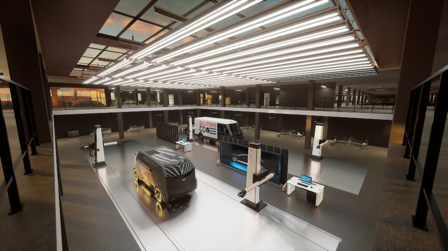GM Drives SoCal Expansion - wide angle interior with robot on the cleanroom floor