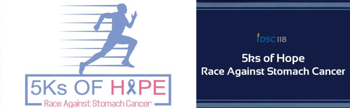 iDriveSoCal Podcast 118, 5Ks of Hope, Race Against Stomach Cancer logo and banner